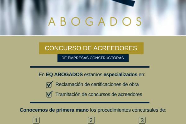 EMPRESAS CONSTRUCTORAS EN CONCURSO DE ACREEDORES - EQ Abogados